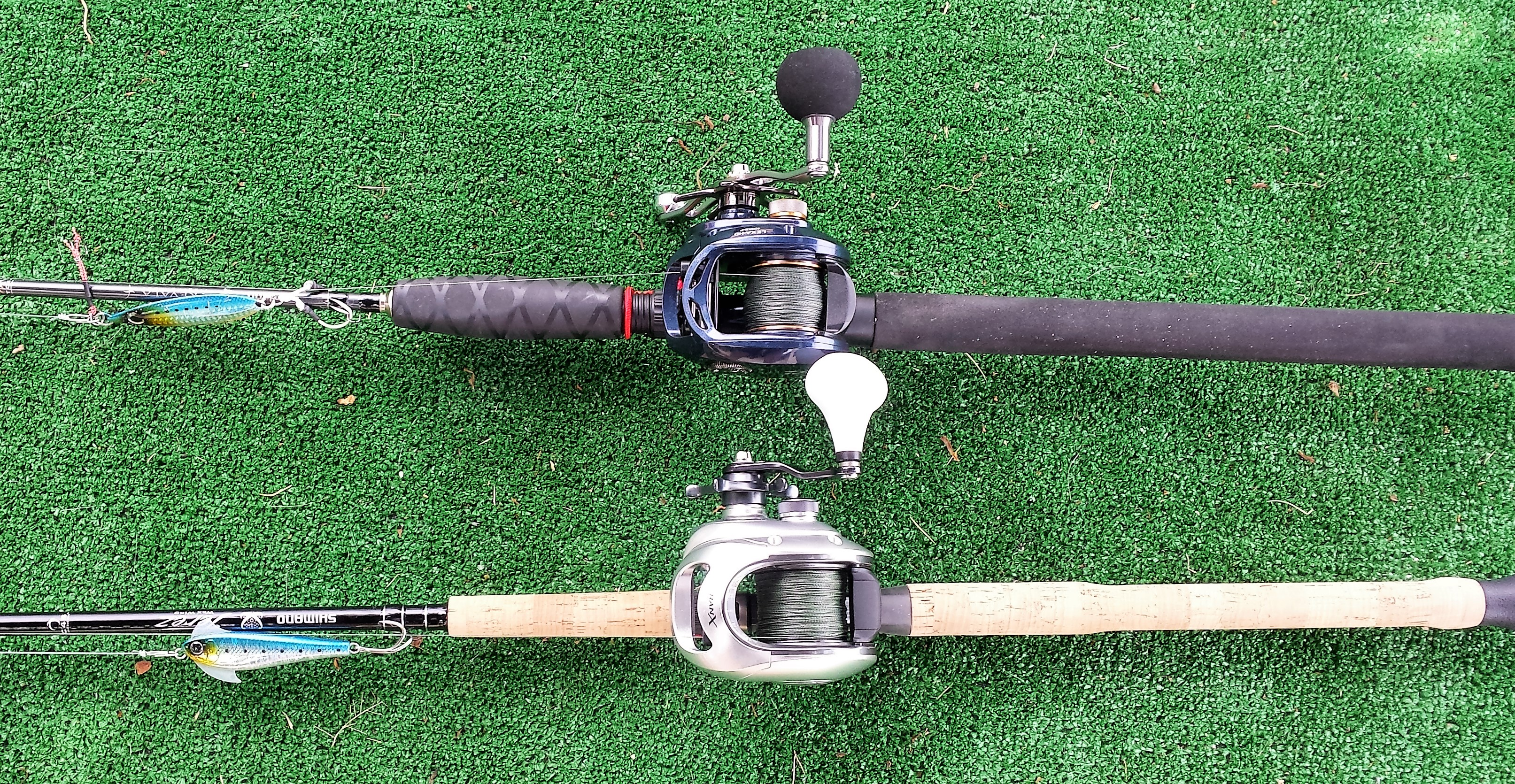 Jigging and popping for pelagics and ulua hawaii for Bottom fishing rods